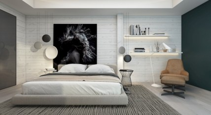 Cozy bedrooms design ideas with brilliant accent walls 30