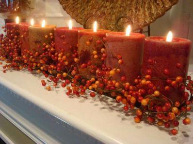 Fabulous christmas decoration ideas using candles 18