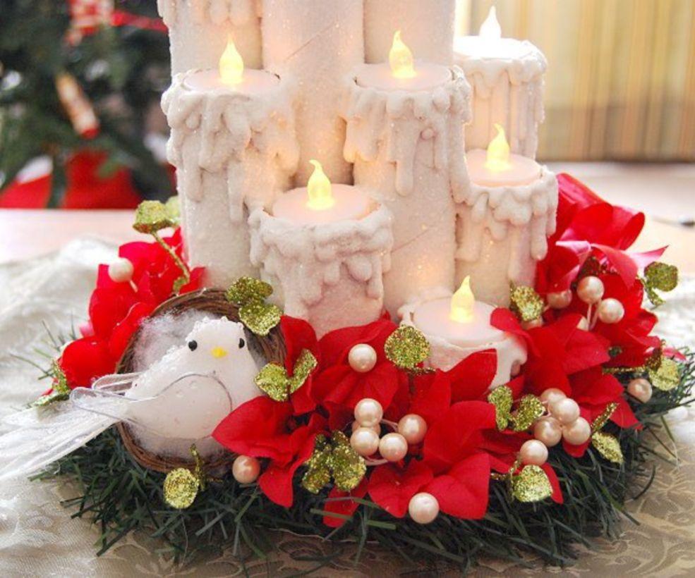 Fabulous christmas decoration ideas using candles 39