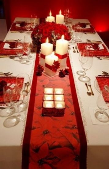 Fabulous christmas decoration ideas using candles 43