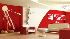 Gorgeous red and white living rooms ideas 01
