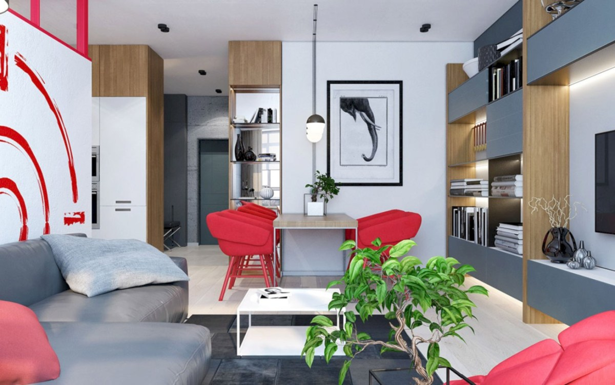 Gorgeous red and white living rooms ideas 15