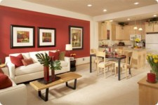 Gorgeous red and white living rooms ideas 18
