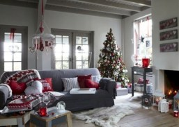 Gorgeous red and white living rooms ideas 19