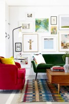 Gorgeous red and white living rooms ideas 32