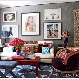Gorgeous red and white living rooms ideas 36