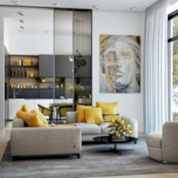 Gorgeous yellow accent living rooms inspiration ideas 05
