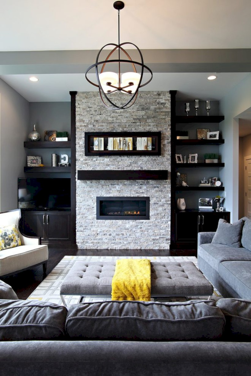 Gorgeous yellow accent living rooms inspiration ideas 15