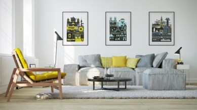 Gorgeous yellow accent living rooms inspiration ideas 17