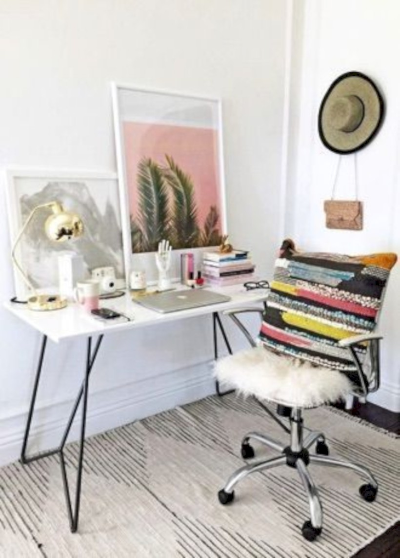 Inspirational home office desks ideas you will totally love 25