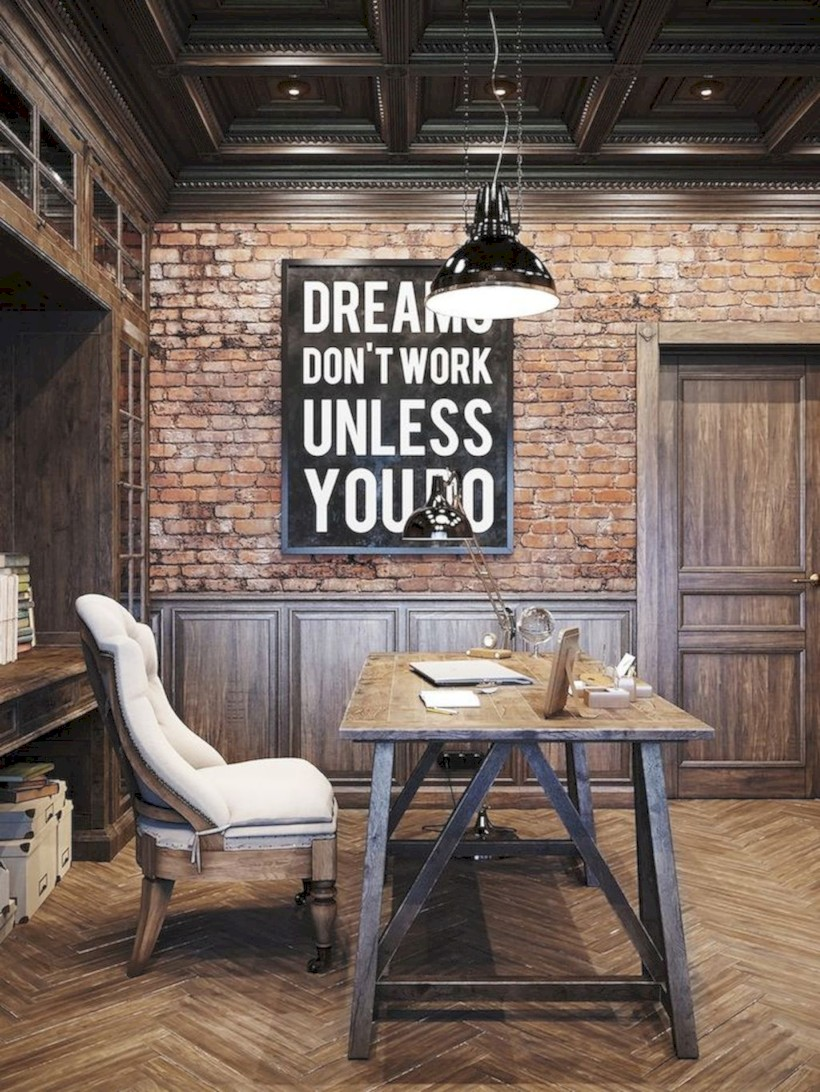 Inspirational home office desks ideas you will totally love 39