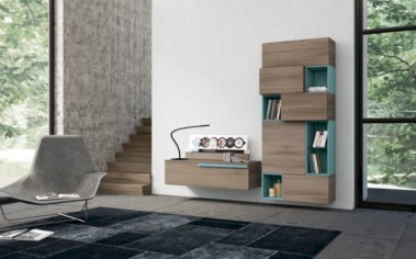Modern living room wall units ideas with storage inspiration 01