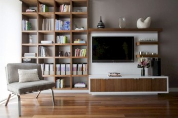 Modern living room wall units ideas with storage inspiration 02