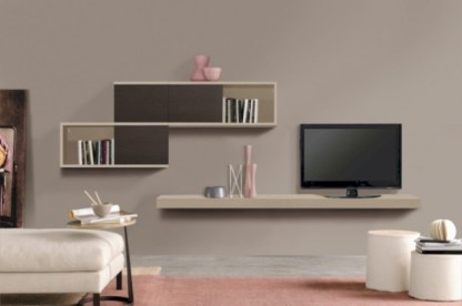 Modern living room wall units ideas with storage inspiration 06
