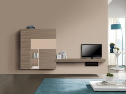 Modern living room wall units ideas with storage inspiration 10