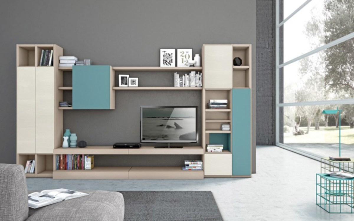 Modern living room wall units ideas with storage inspiration 14