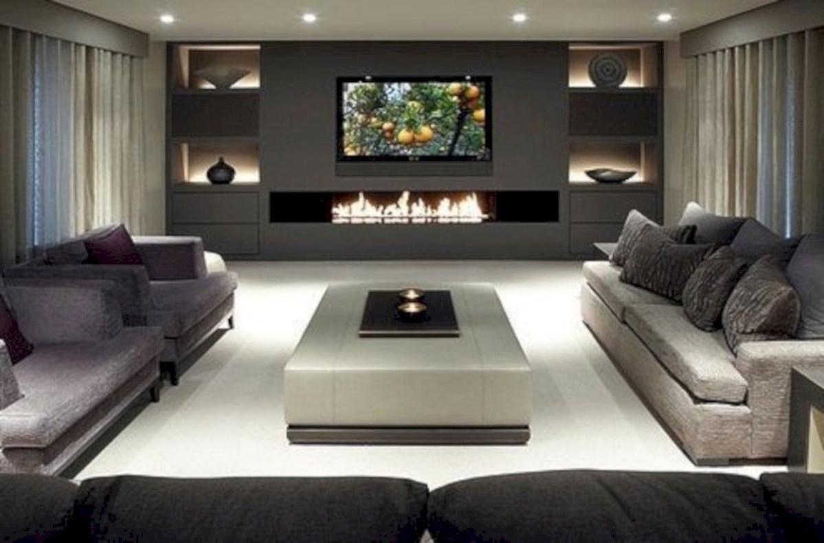 Modern living room wall units ideas with storage inspiration 20