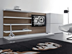 Modern living room wall units ideas with storage inspiration 31