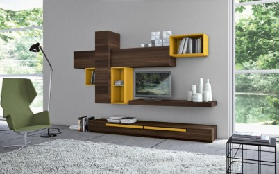 Modern living room wall units ideas with storage inspiration 38
