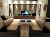 Modern living room wall units ideas with storage inspiration 42