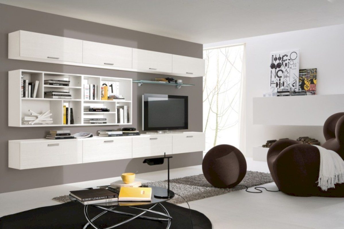 42 Modern Living Room Wall Units Ideas With Storage Inspiration