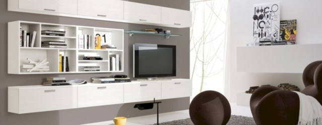 Modern living room wall units ideas with storage inspiration 44