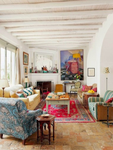 Relaxing moroccan living room decoration ideas 20