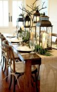 Simple rustic christmas table settings ideas 10