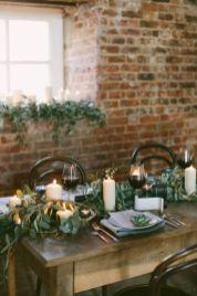 Simple rustic christmas table settings ideas 15