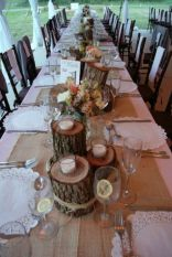 Simple rustic christmas table settings ideas 16