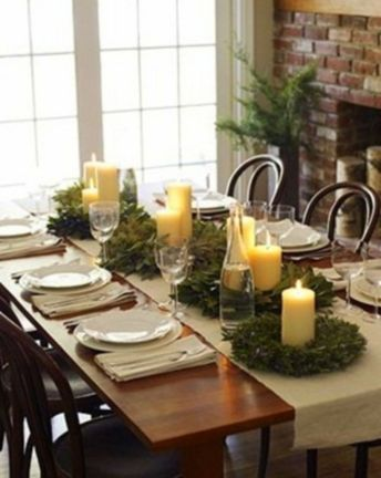 Simple rustic christmas table settings ideas 26