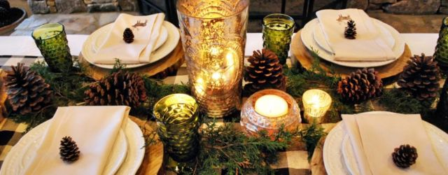 Simple rustic christmas table settings ideas 31