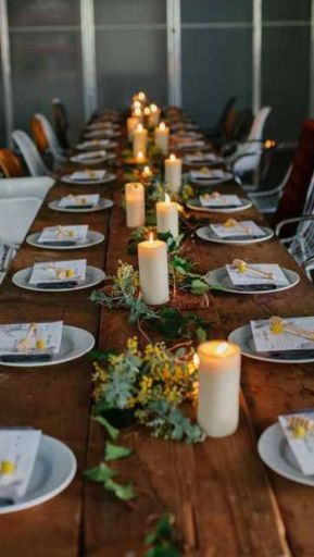 Simple rustic christmas table settings ideas 43
