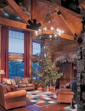 Stunning indoor rustic christmas decoration ideas 10