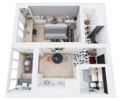 Stylish studio apartment floor plans ideas 08