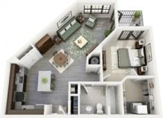 Stylish studio apartment floor plans ideas 20