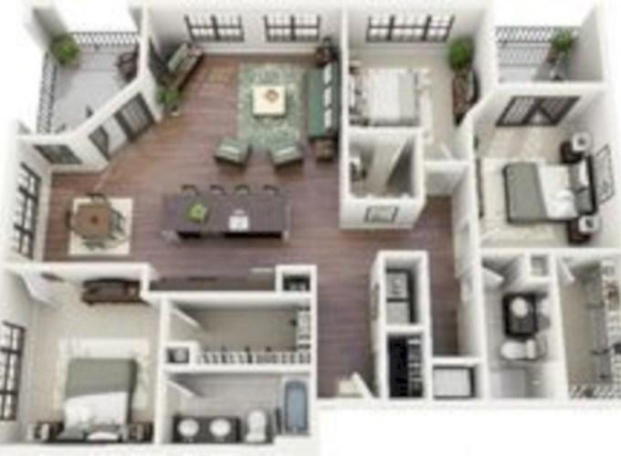 Stylish studio apartment floor plans ideas 31