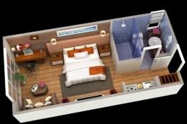 Stylish studio apartment floor plans ideas 33