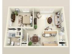 Stylish studio apartment floor plans ideas 39