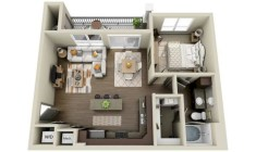 Stylish studio apartment floor plans ideas 40