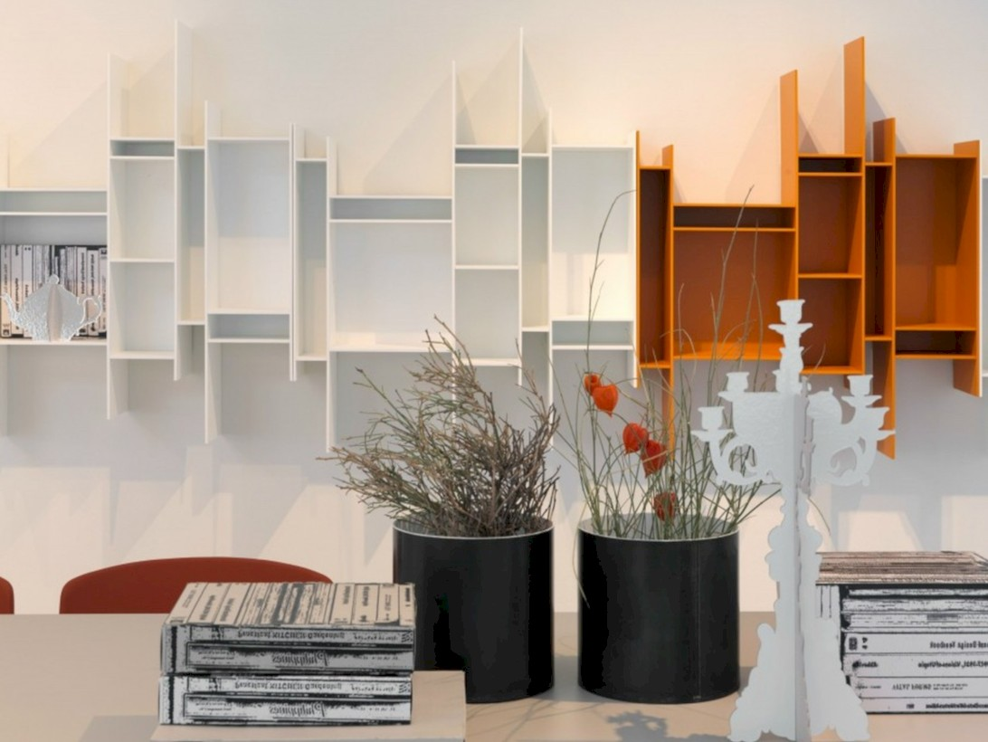 Unique and modern wall shelves beautiful storage ideas 06
