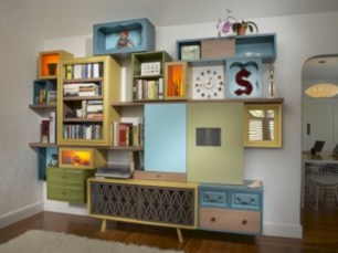 Unique and modern wall shelves beautiful storage ideas 25