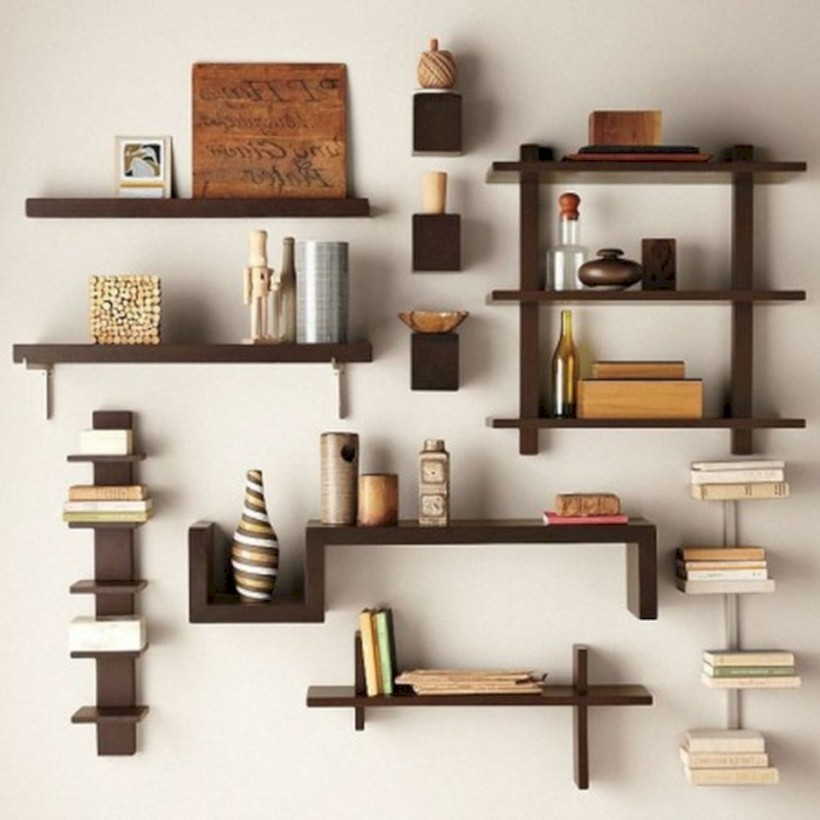 Unique and modern wall shelves beautiful storage ideas 28