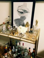 Affordable apartment coffee bar cart inspirations ideas 14