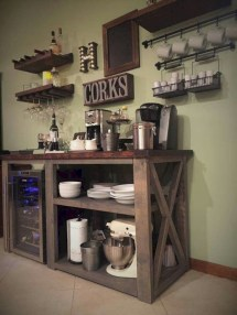 Affordable apartment coffee bar cart inspirations ideas 20