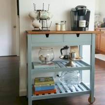 Affordable apartment coffee bar cart inspirations ideas 23