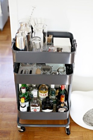 Affordable apartment coffee bar cart inspirations ideas 27