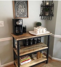 Affordable apartment coffee bar cart inspirations ideas 39