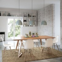 Awesome mid century modern dining room table decor ideas 04