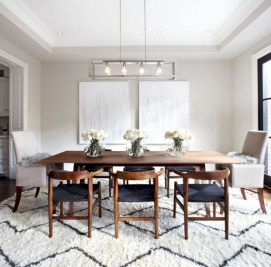 Awesome mid century modern dining room table decor ideas 07